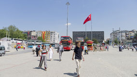 Taksimvierkant, Istanboel, Turkije Royalty-vrije Stock Fotografie