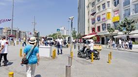 Taksimvierkant, Istanboel, Turkije Stock Foto