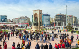 Taksimvierkant in Istanboel, Turkije Royalty-vrije Stock Foto's