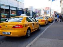 Takso giallo originale del tallink del taxi di Tallinn Fotografie Stock Libere da Diritti