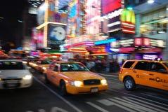 taksówki miasto nowy żółty York Obraz Royalty Free