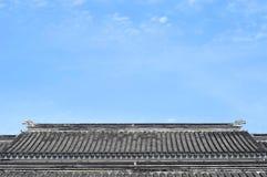 Taktegelplattor för traditionell kines, Suzhou, Kina arkivfoto