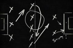 Taktiken und Entwurf des Fußballs Lizenzfreie Stockfotos