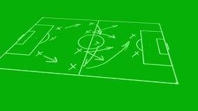 Taktischer strategischer Entwurf des Fußballspiels an Bord stock abbildung