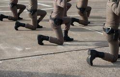 Taktisches Feuerwaffentraining der Polizei lizenzfreies stockbild