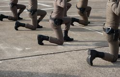 Taktisk skjutvapenutbildning för polisen royaltyfri bild