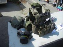Taktisk utrustning för polisen Royaltyfri Foto