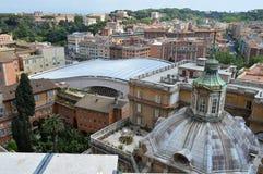 Takträdgårdar i Rome Arkivbilder