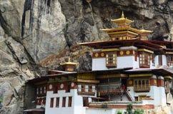 Taktsang修道院在不丹 免版税库存照片