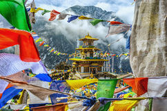 Taktsang Gompa, India. Located in Tawang District of Arunachal Pradesh, India. It is believed that Guru Padmasambhava visisted this place for meditation in the Royalty Free Stock Photo