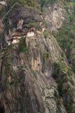 Taktsang Palphug monaster Paro, Bhutan (także znać jako Tygrysi gniazdeczko) Obrazy Royalty Free
