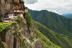 Taktsang Palphug monaster Paro, Bhutan (także znać jako Tygrysi gniazdeczko) Obrazy Stock