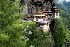 Taktshang修道院在不丹 免版税库存照片
