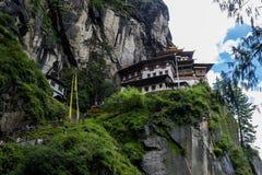 Taktshang修道院在不丹 库存图片