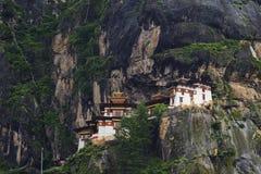 Taktshang修道院在不丹 库存照片