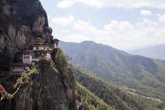 Taktshang Goemba (гнездо тигра) в западном Бутане Стоковые Фото