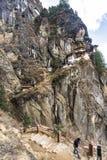 Taktshang Goemba lub Tiger& x27; s gniazdeczka świątynia na górze, Bhutan zdjęcia royalty free