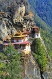 Taktshang Goemba lub Tygrysi ` s gniazdeczka monaster, Paro, Bhutan Fotografia Royalty Free