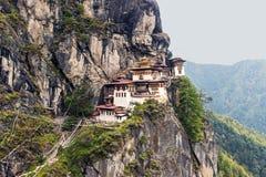 Taktshang Goemba - Tiger's-Nest-Kloster lizenzfreie stockfotos