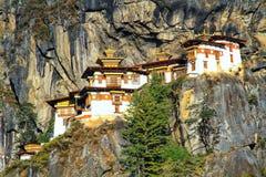 Taktshang Goemba or Tiger`s nest monastery, Paro, Bhutan Royalty Free Stock Images