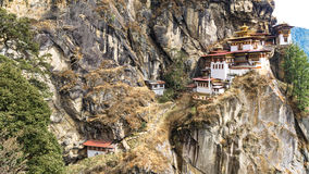 Taktshang Goemba or Tiger's nest Temple on mountain, Bhutan Royalty Free Stock Image