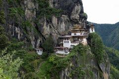 Taktshang kloster i Bhutan arkivfoto