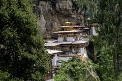 Taktshang kloster i Bhutan Royaltyfri Bild