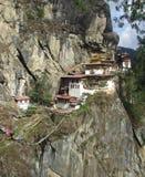 Taktshang Kloster (Nest des Tigers) in Bhutan stockfoto