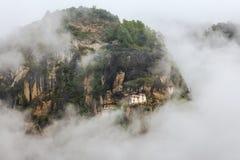 Taktshang monaster, Paro dolina, Paro okręg, Bhutan (tygrysa gniazdeczko) Zdjęcie Stock