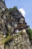 Taktshang monastery, Bhutan. Tigers Nest Monastery also know as Taktsang Palphug Monastery. Located in the cliffside of the upper Paro valley, in Bhutan Royalty Free Stock Photography