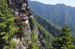 Taktshang monastery, Bhutan. Tigers Nest Monastery also know as Taktsang Palphug Monastery. Located in the cliffside of the upper Paro valley, in Bhutan Royalty Free Stock Images
