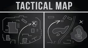 Taktyczna mapa bój również zwrócić corel ilustracji wektora Fotografia Stock