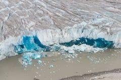 Taku Glacier Juneau, Alaska Arkivfoton