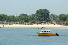 TAKWA BAY BEACH AT  CHRISTMAS, LAGOS NIGERIA Royalty Free Stock Photo