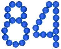 Tal 84, åttioåfyra, från dekorativa bollar som isoleras på whit Arkivbild