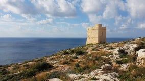 Tal-Ħamrija Coastal Tower Malta Stock Photos