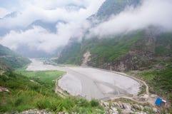 Tal, Annapurna ślad, Nepal Zdjęcia Stock
