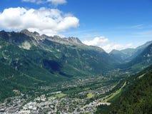 Tal Chamonix Stockfoto