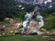 Tal der Geysire Kronotsky-Zustands-Naturreservat kamchatka Russland Lizenzfreie Stockbilder