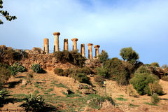 Tal der griechischen Ruinen der Tempel, Agrigent Italien Stockfotografie