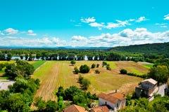 Tal der Rhônes Stockfoto