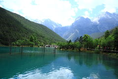 Tal des blauen Mondes, Lijiang, China Lizenzfreie Stockfotos