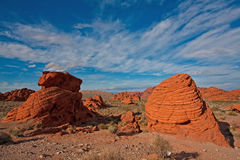 Tal des Feuer-Nationalparks in Nevada Stockbild