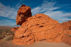 Tal des Feuer-Nationalparks in Nevada Lizenzfreie Stockfotos