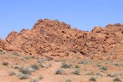 Tal des Feuer-Nationalparks Nevada Stockbild
