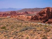 Tal des Feuers, Nevada Lizenzfreies Stockfoto