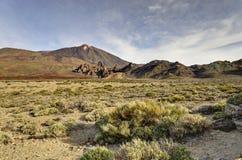Tal des Vulkans Teide Stockbild