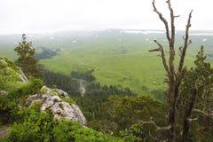 Tal die Landschaft ist, Lagonaki, Kaukasus, Russland atemberaubend lizenzfreies stockfoto