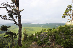 Tal die Landschaft ist, Lagonaki, Kaukasus, Russland atemberaubend lizenzfreie stockbilder