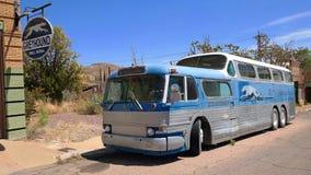 50-tal dubblerar Decker Greyhound Bus Arkivfoto